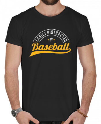 T-shirt  Homme 180g Distracted by Baseball par Original t-shirt
