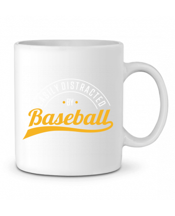 Mug en Céramique Distracted by Baseball par Original t-shirt