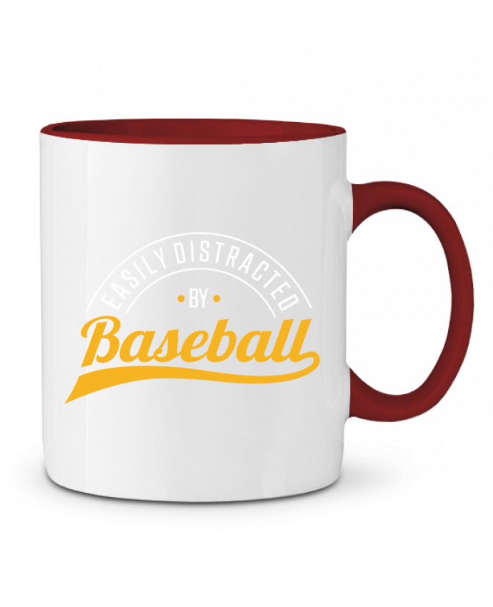 Mug en Céramique Bicolore Distracted by Baseball Original t-shirt