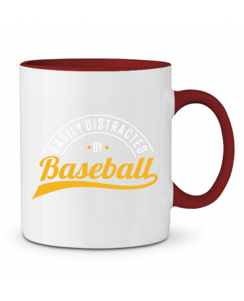 Mug en Céramique Bicolore Distracted by Baseball Original t-shirt