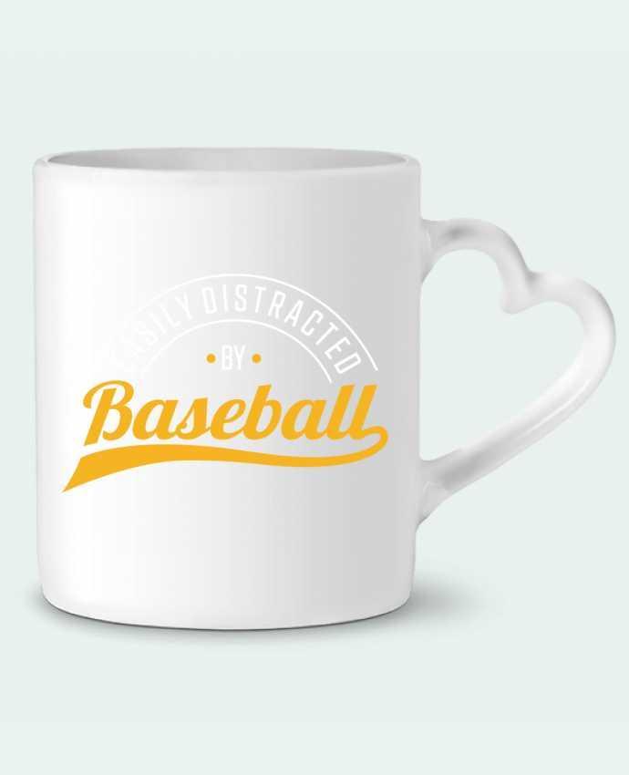 Mug coeur Distracted by Baseball par Original t-shirt