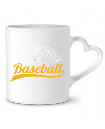 Mug Coeur Distracted by Baseball par Original t-shirt