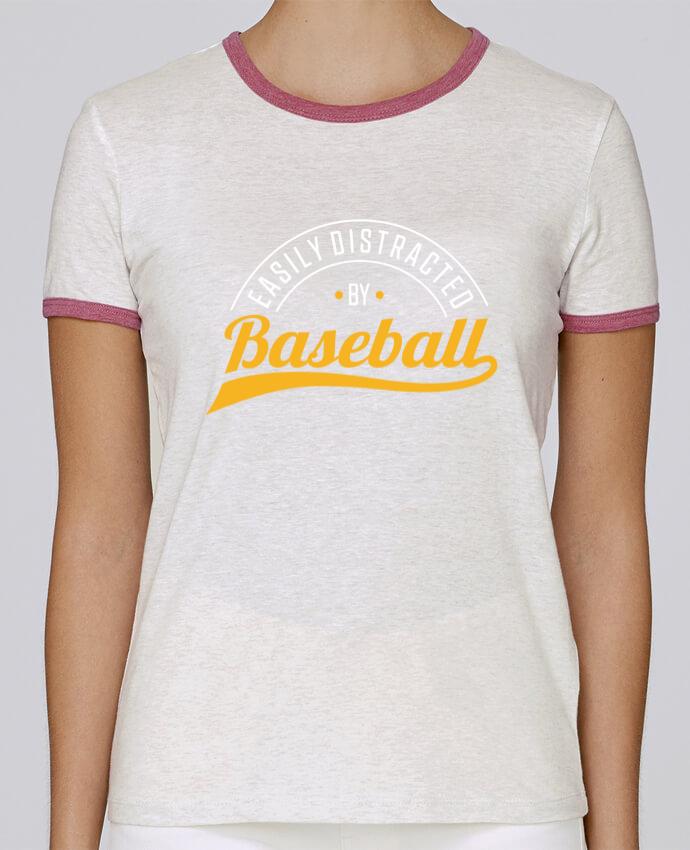T-shirt Femme Stella Returns Distracted by Baseball pour femme par Original t-shirt