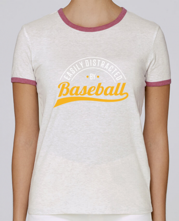 T-shirt Femme Stella Returns Distracted by Baseball pour femme par Original t-shirt