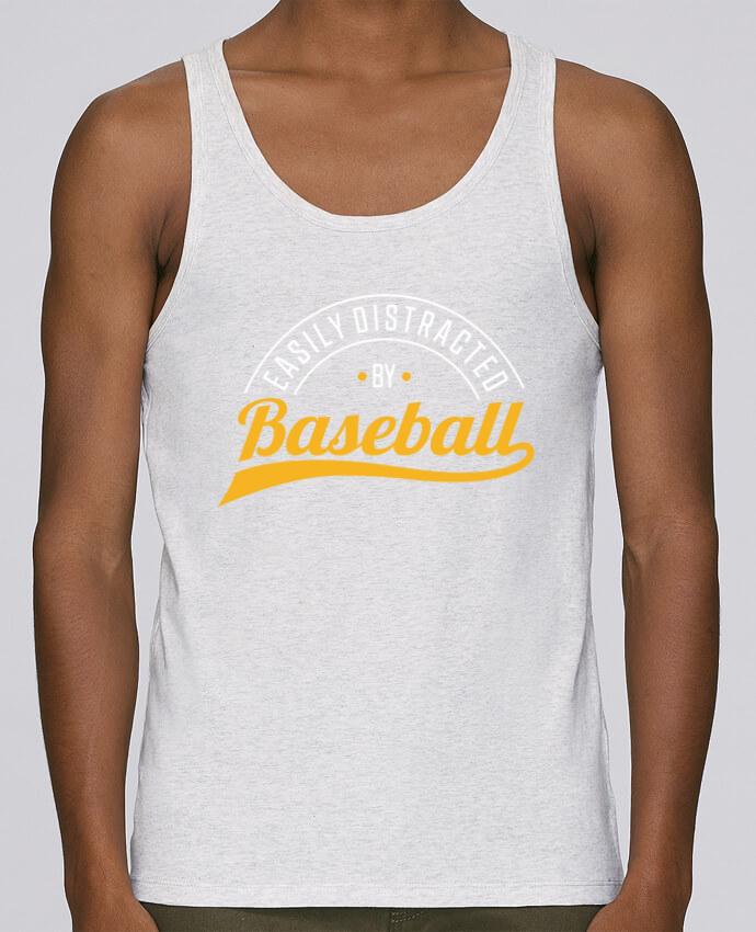Débardeur Bio Homme Stanley Runs Distracted by Baseball par Original t-shirt 100% coton bio