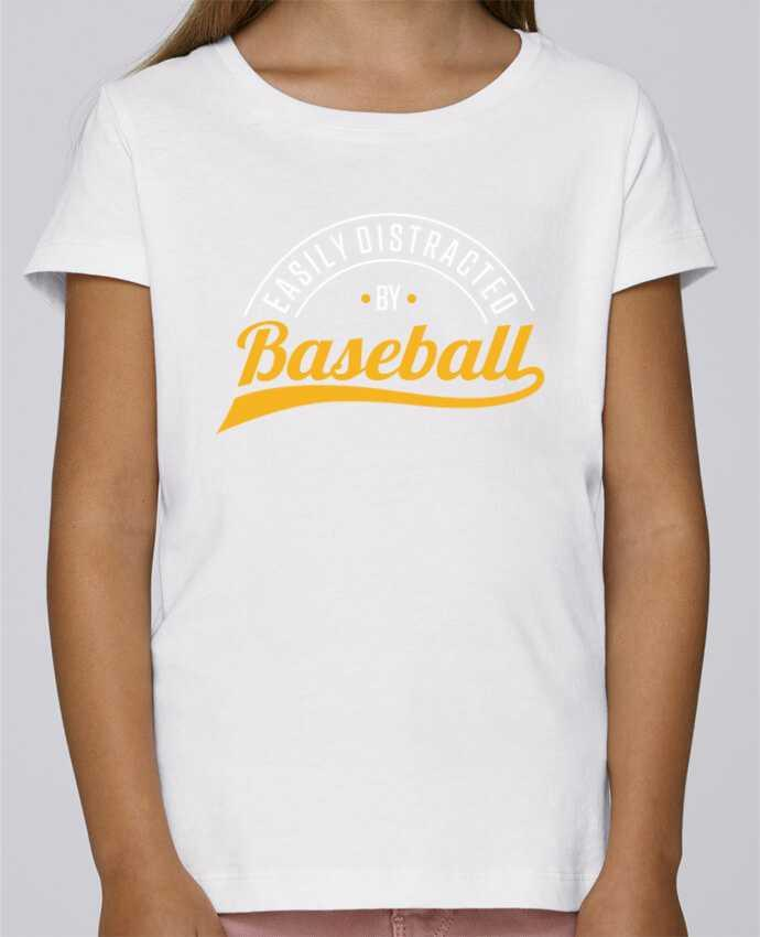 T-shirt Fille Mini Stella Draws Distracted by Baseball par Original t-shirt