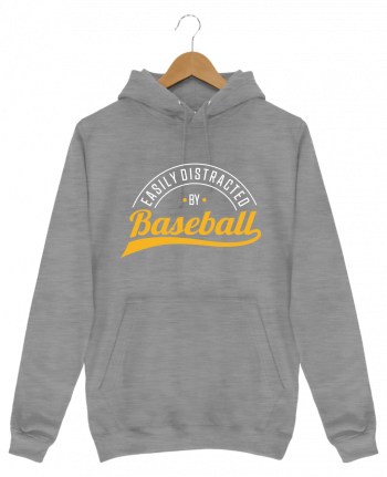 Sweat Shirt à Capuche Homme Distracted by Baseball par Original t-shirt