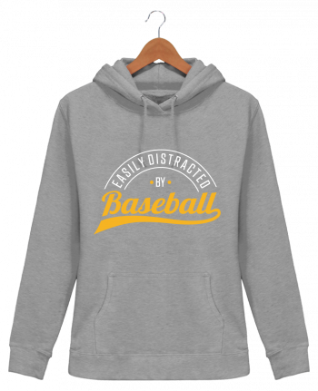 Sweat à Capuche Femme Distracted by Baseball - Original t-shirt