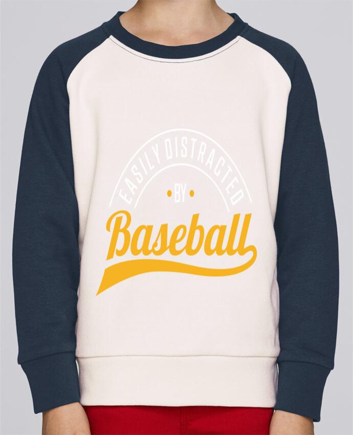 Sweat Shirt Col Rond Enfant Stanley Mini Contrast Distracted by Baseball par Original t-shirt