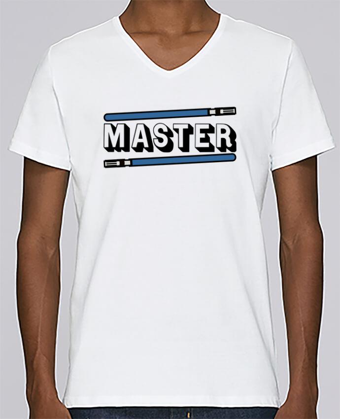 T-shirt Col V Homme Stanley Relaxes Jedi Duo par Original t-shirt