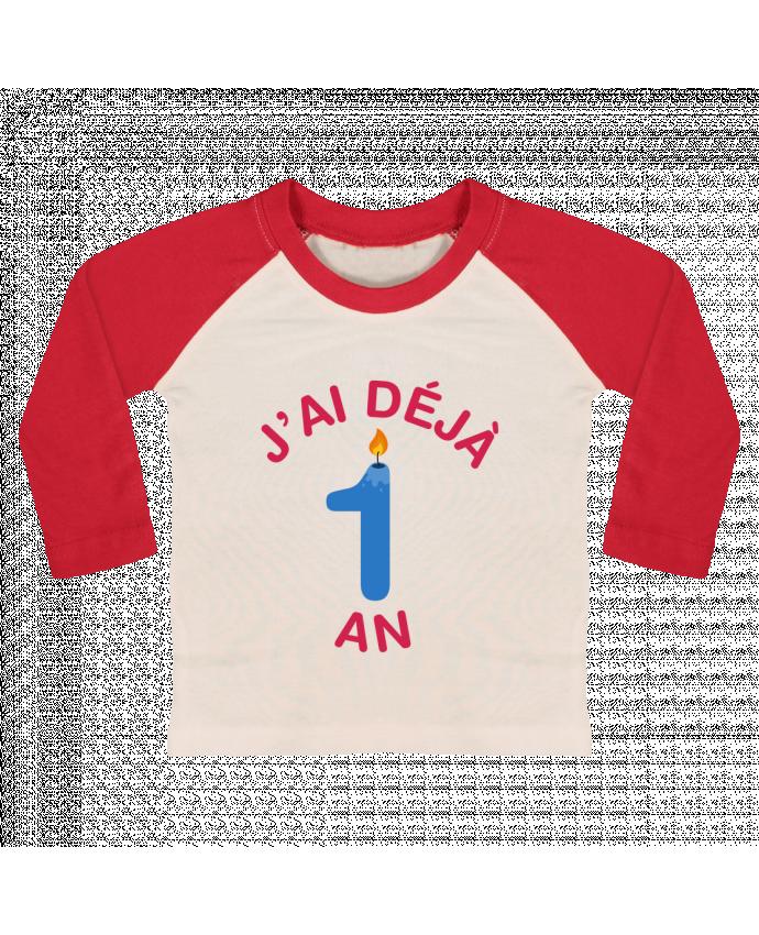 T-shirt Bébé Baseball Manches Longues Déjà 1 ans Cadeau bébé par tunetoo