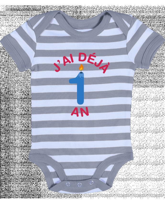Body Bébé à Rayures Déjà 1 ans Cadeau bébé - tunetoo