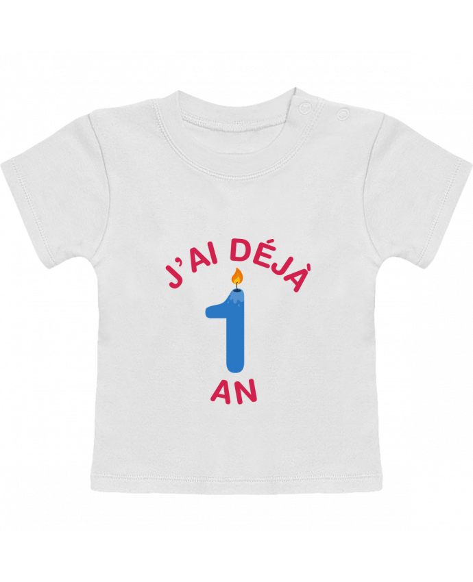 T-Shirt Bébé Manches Courtes Déjà 1 ans Cadeau bébé manches courtes du designer tunetoo