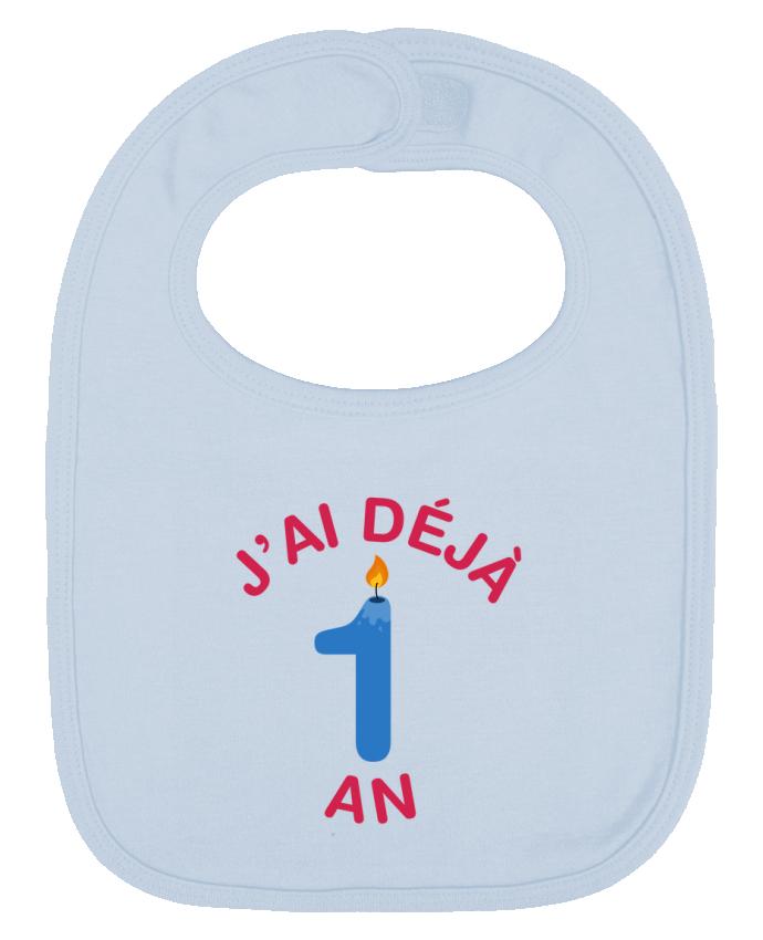 Bavoir Uni et Contrasté Déjà 1 ans Cadeau bébé par tunetoo