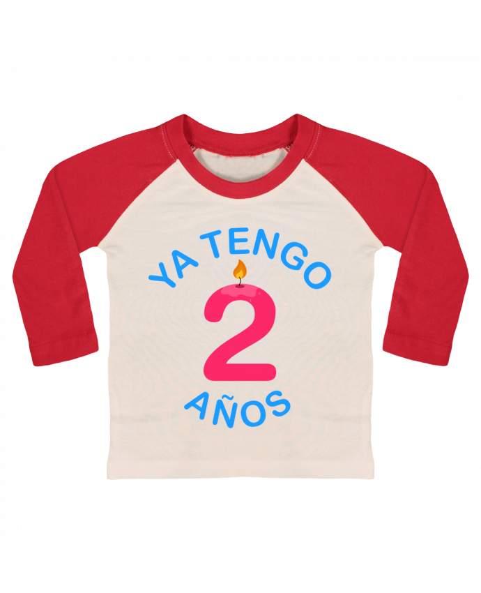 T-shirt Bébé Baseball Manches Longues Ya Tengo 2 años par tunetoo