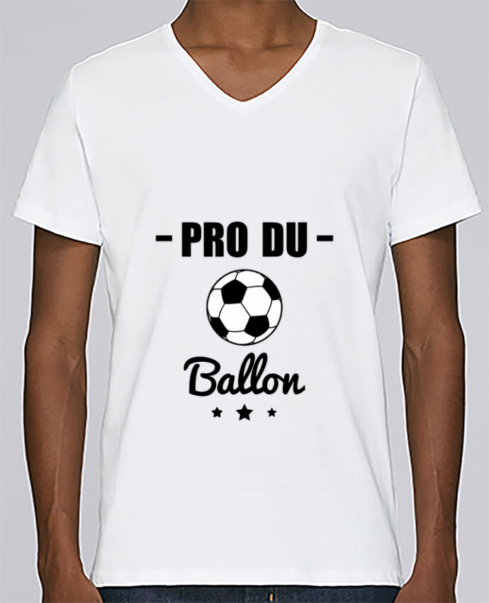 T-shirt Col V Homme Stanley Relaxes Pro du ballon de football par Benichan