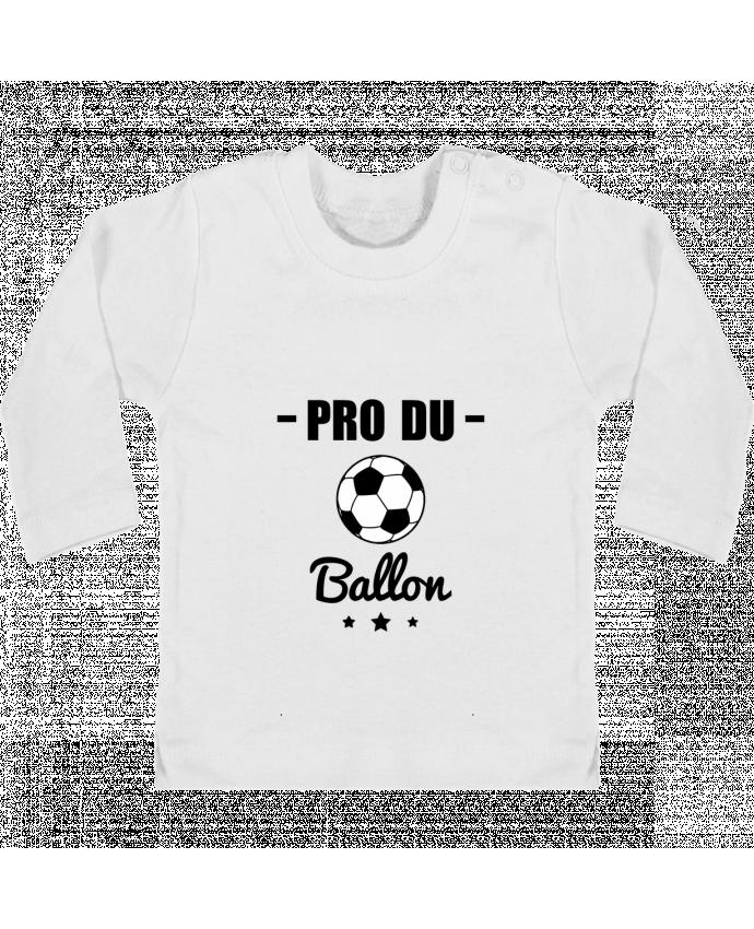T-shirt Bébé Manches Longues Boutons Pression Pro du ballon de football manches longues du designer Benichan