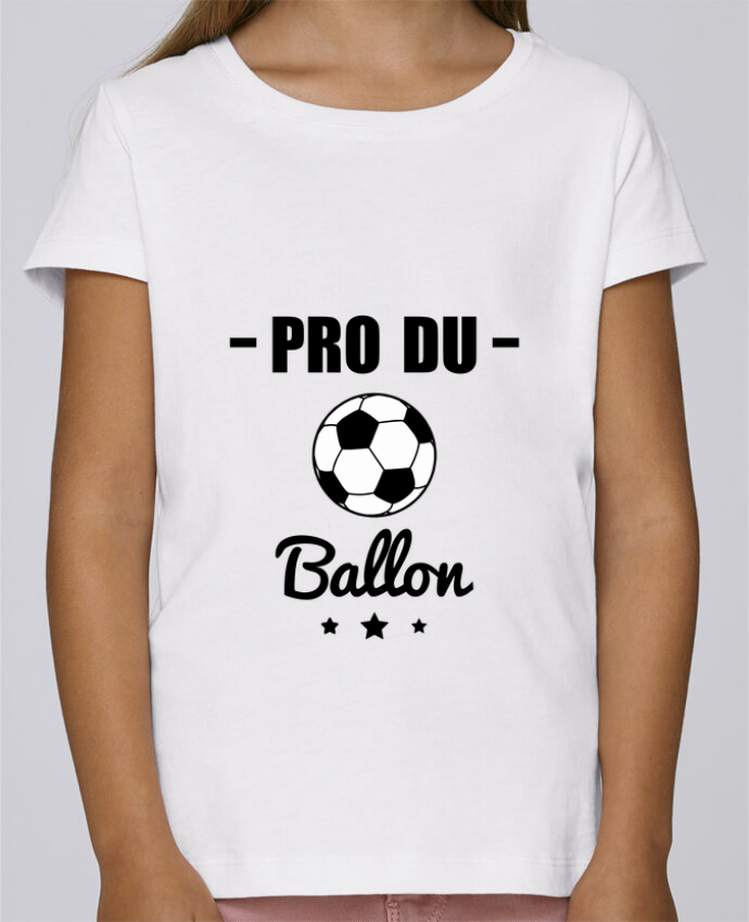 T-shirt Fille Mini Stella Draws Pro du ballon de football par Benichan