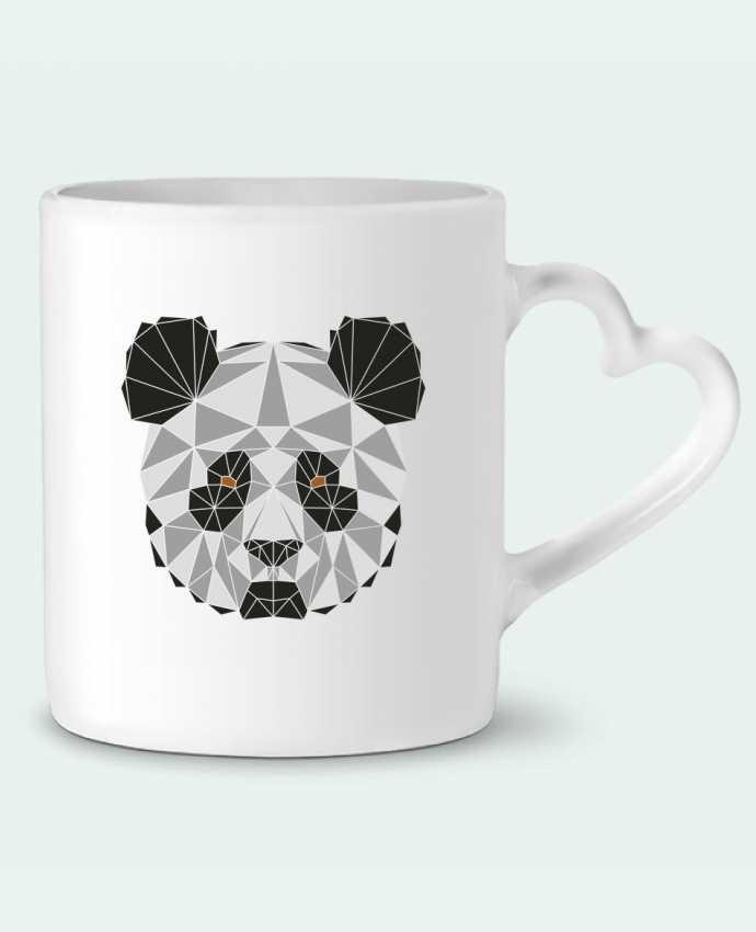 Mug Coeur Panda géométrique par /wait-design