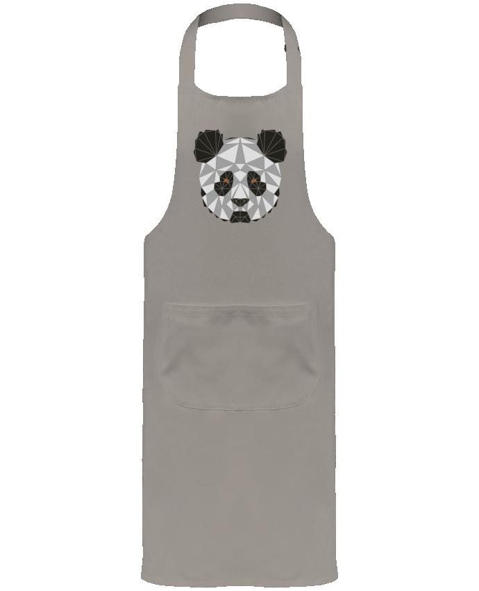 Tablier de Jardinier ou Sommelier avec Poche Panda géométrique par /wait-design