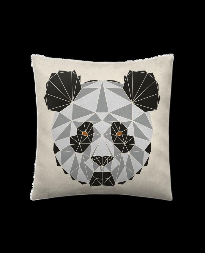 Coussin Toucher Peau de Pêche 41 x 41 cm Panda géométrique par /wait-design