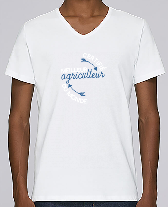 T-shirt Col V Homme Stanley Relaxes Meilleur agriculteur du monde par Original t-shirt