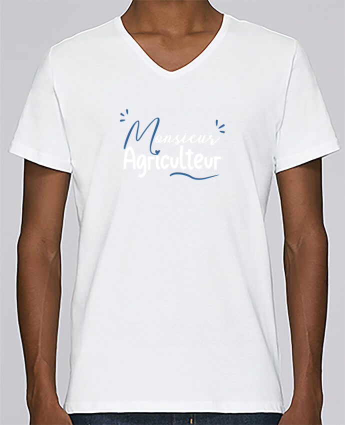 T-shirt Col V Homme Stanley Relaxes Monsieur Agriculteur par Original t-shirt