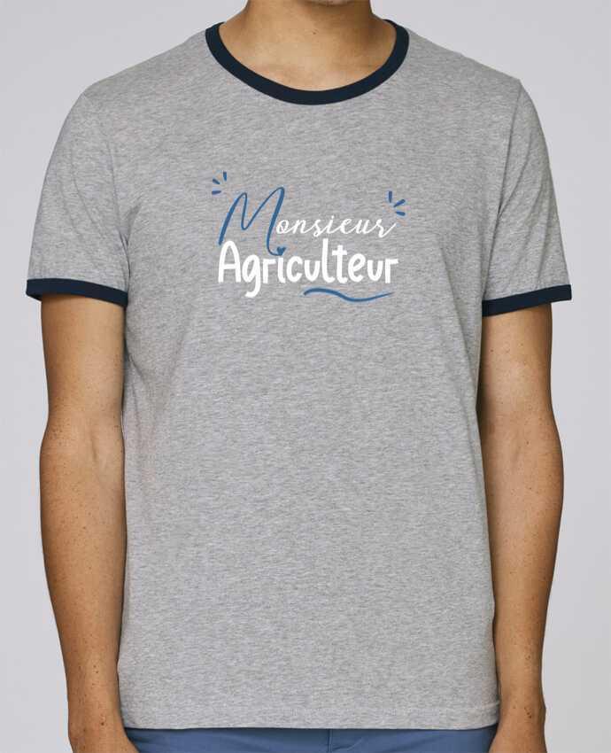 T-Shirt Ringer Contrasté Homme Stanley Holds Monsieur Agriculteur pour femme par Original t-shirt