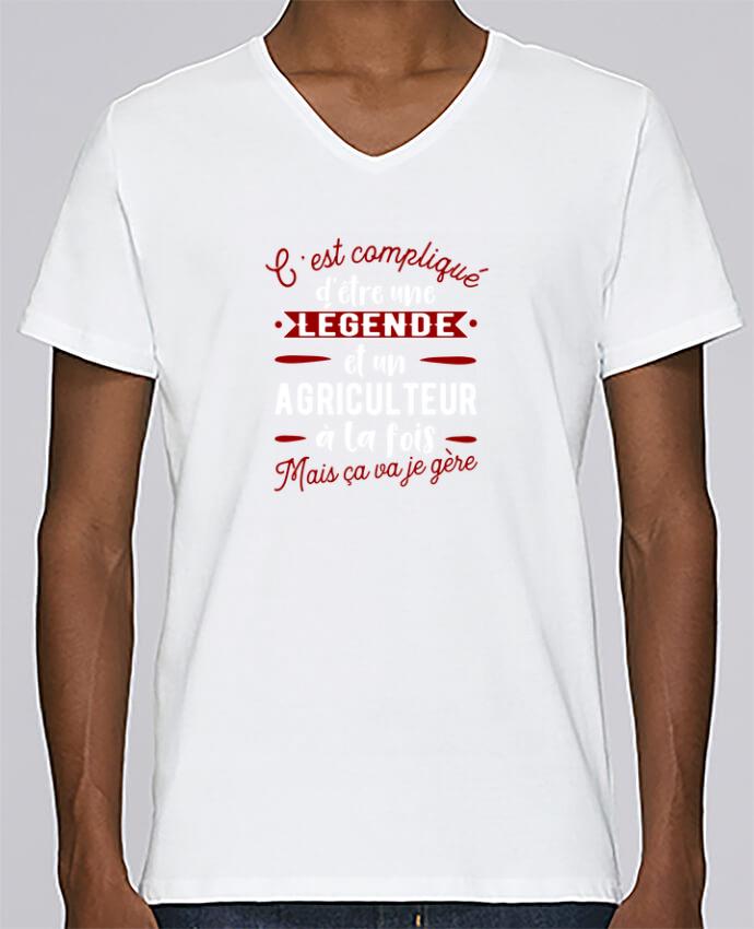 T-shirt Col V Homme Stanley Relaxes Légende et agriculteur par Original t-shirt