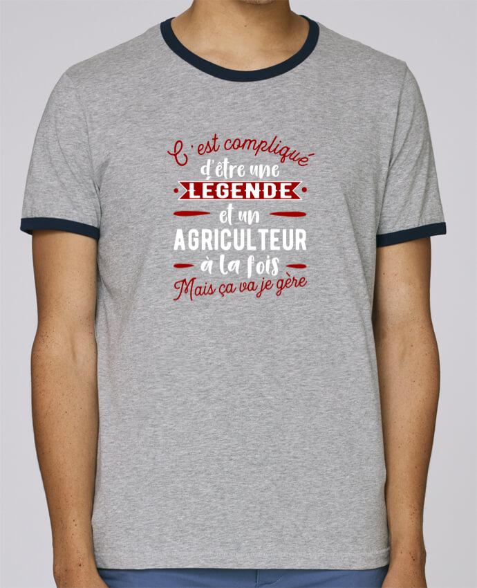 T-Shirt Ringer Contrasté Homme Stanley Holds Légende et agriculteur pour femme par Original t-shirt