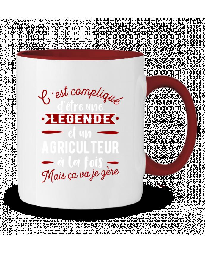 Mug en Céramique Bicolore Légende et agriculteur Original t-shirt