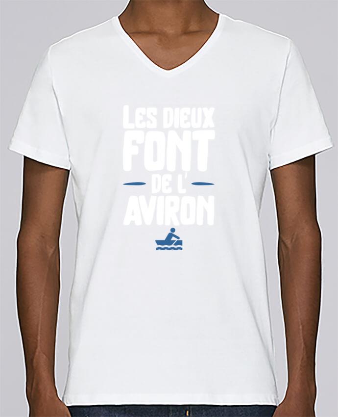 T-shirt Col V Homme Stanley Relaxes Dieu de l'aviron par Original t-shirt