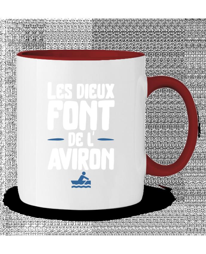Mug en Céramique Bicolore Dieu de l'aviron Original t-shirt