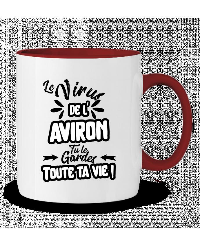 Mug en Céramique Bicolore Virus de l'Aviron Original t-shirt
