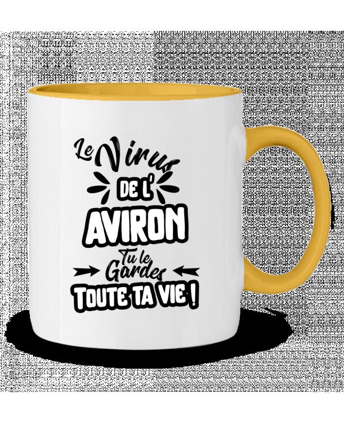 Mug bicolore Virus de l'Aviron Original t-shirt