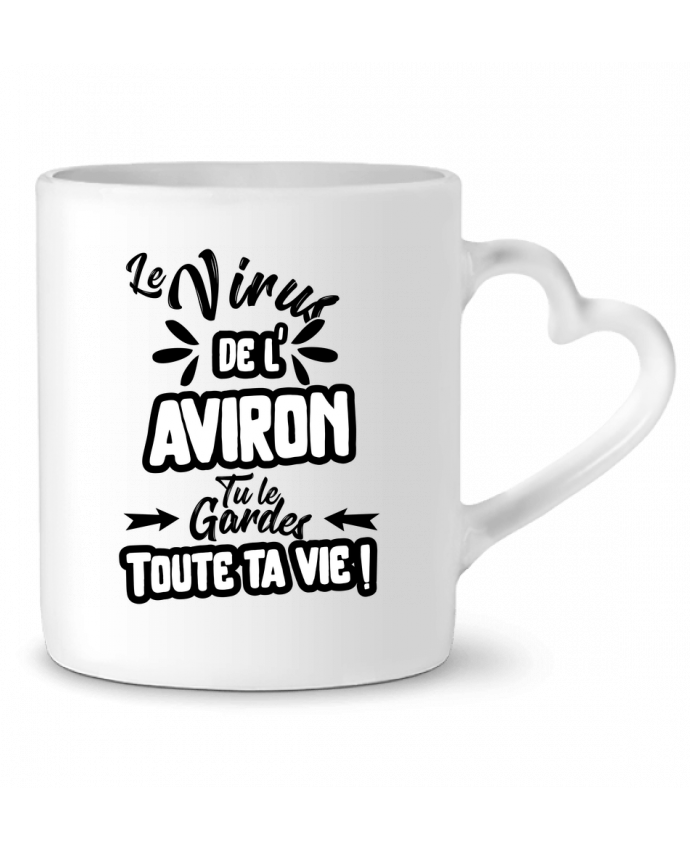 Mug Coeur Virus de l'Aviron par Original t-shirt