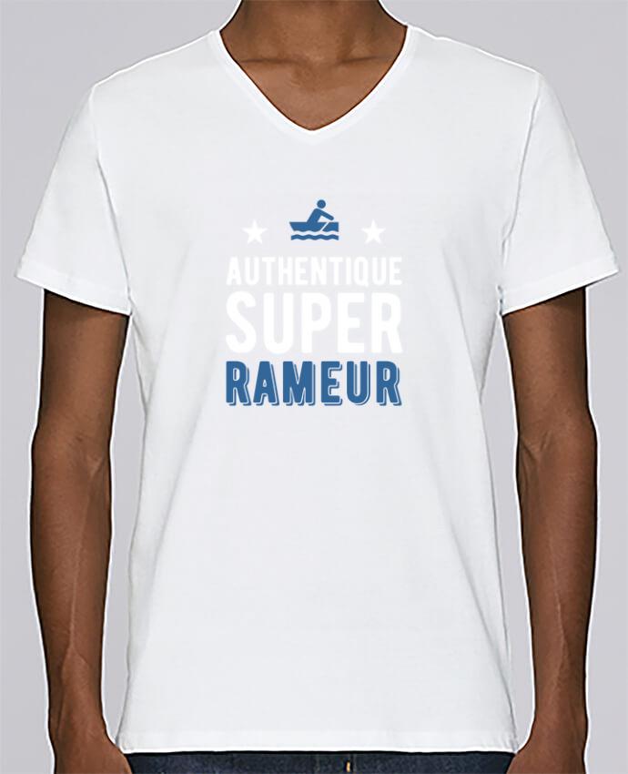 T-shirt Col V Homme Stanley Relaxes Authentique rameur par Original t-shirt