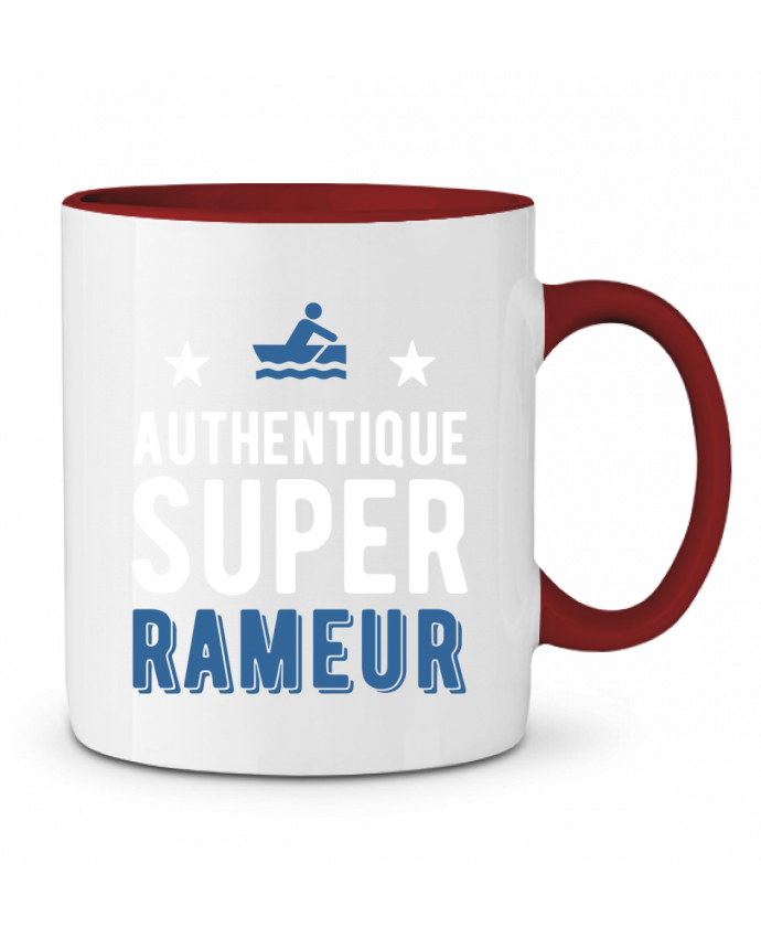 Mug en Céramique Bicolore Authentique rameur Original t-shirt