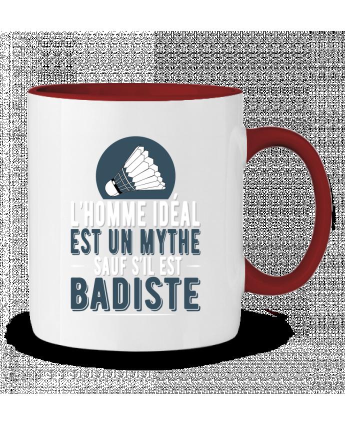 Mug en Céramique Bicolore Homme Badiste Badminton Original t-shirt