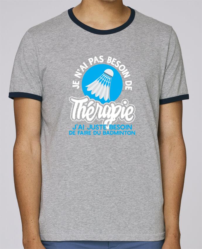 T-Shirt Ringer Contrasté Homme Stanley Holds Thérapie badminton pour femme par Original t-shirt