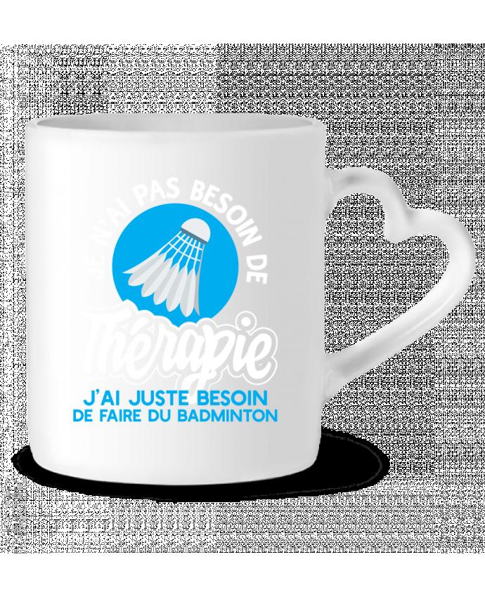 Mug Coeur Thérapie badminton par Original t-shirt