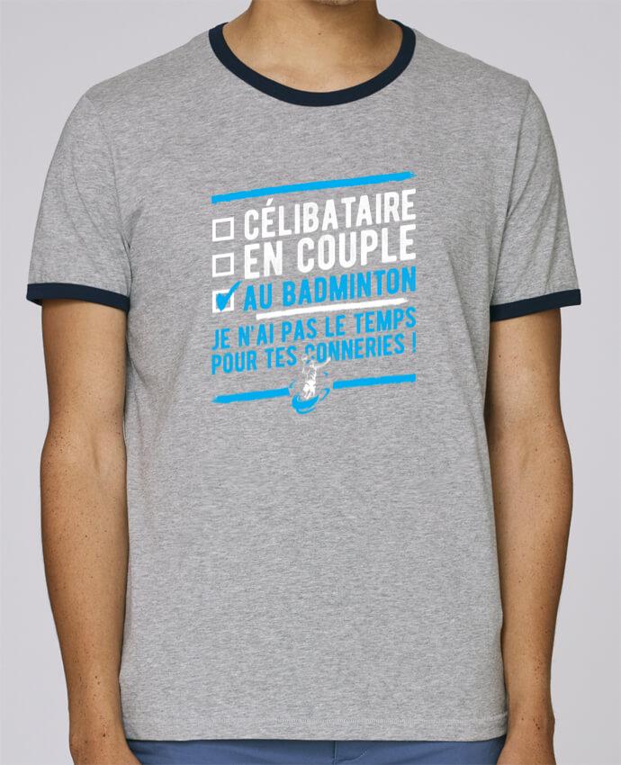 T-Shirt Ringer Contrasté Homme Stanley Holds Accro badminton pour femme par Original t-shirt