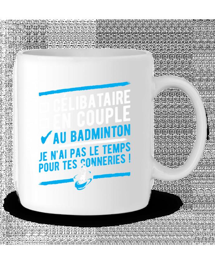 Mug en Céramique Accro badminton par Original t-shirt