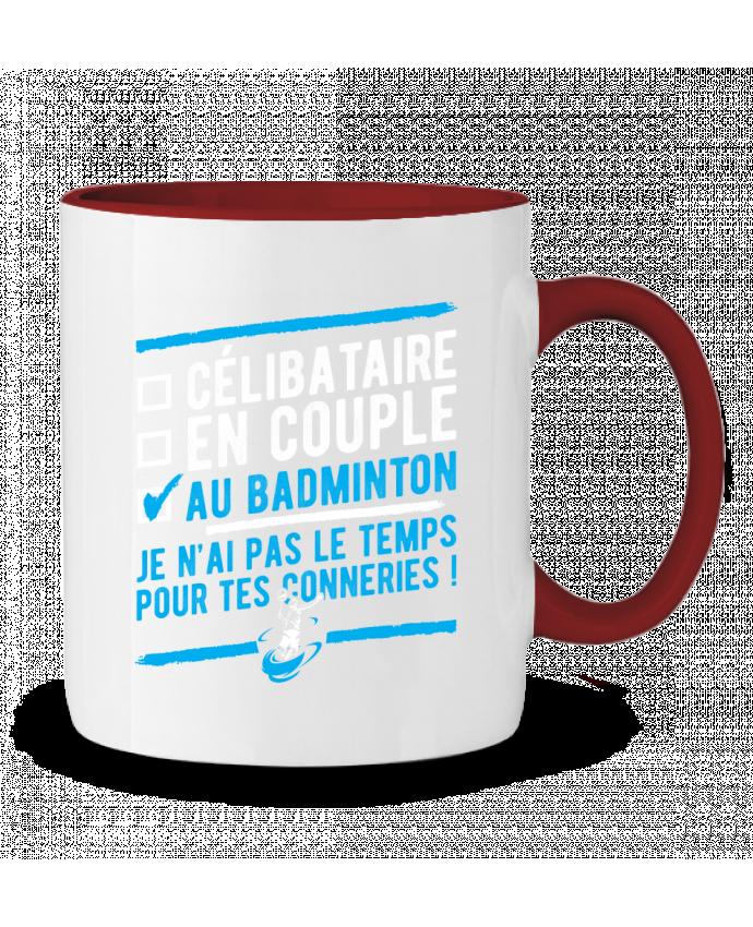 Mug en Céramique Bicolore Accro badminton Original t-shirt
