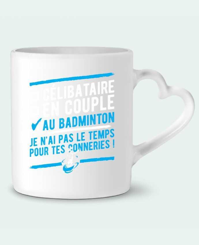 Mug Coeur Accro badminton par Original t-shirt