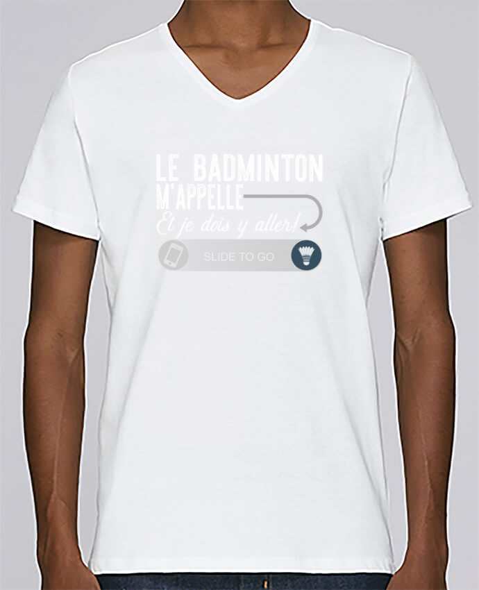 T-shirt Col V Homme Stanley Relaxes Badminton m