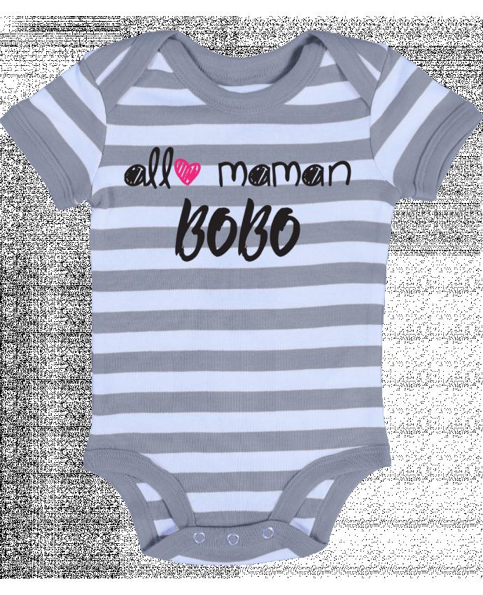 Body Bébé à Rayures Allô maman bobo Cadeau bébé - tunetoo