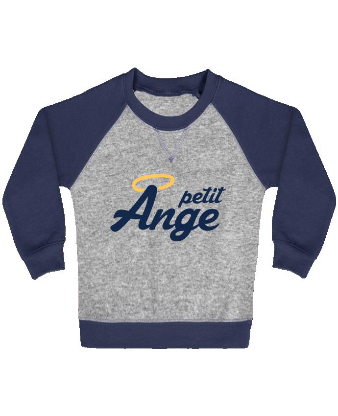 Sweat Shirt Bébé Col Rond Manches Raglan Contrastées Petit Ange par tunetoo