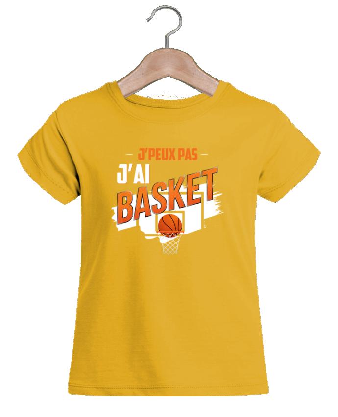 T-shirt Fille Mini Stella Draws J'peux pas j'ai basket par Original t-shirt