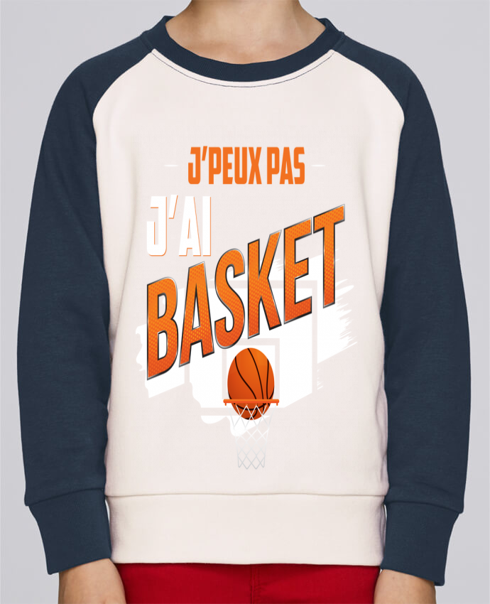 Sweat Shirt Col Rond Enfant Stanley Mini Contrast J'peux pas j'ai basket par Original t-shirt